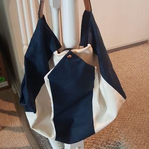 DVF Laragh wide striped hobo bag